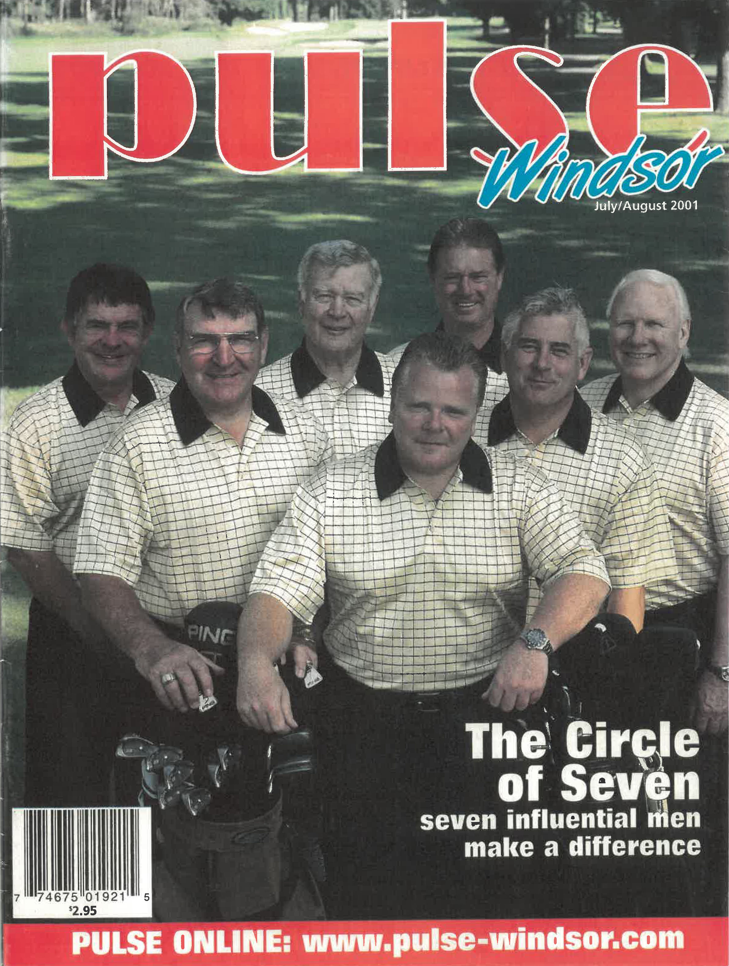 Cover of Pulse Windsor July/August 2001 | The Circle of Seven | Seven Influencial men make a difference