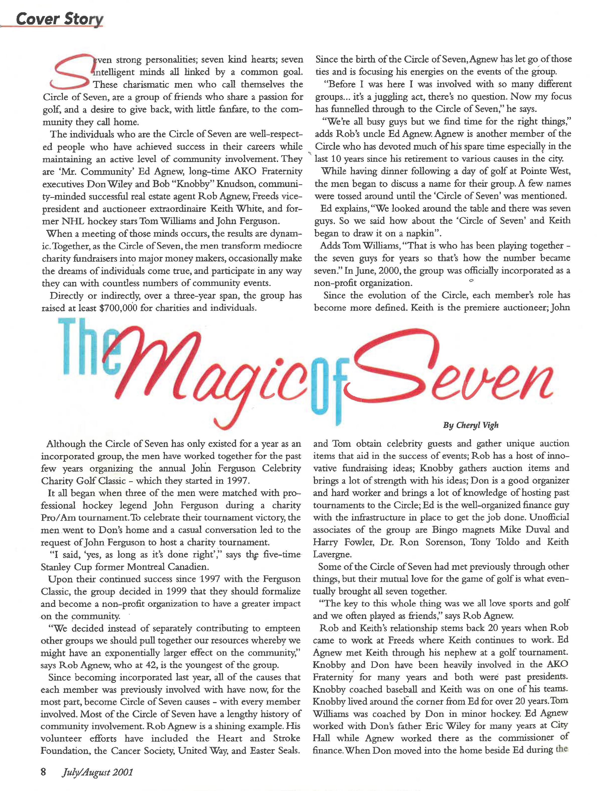 The magic of Seven article Into