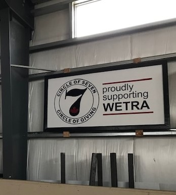A picture of WETRA ad board